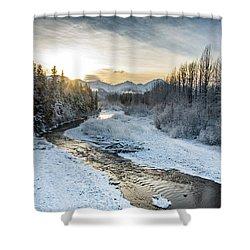 Alaska Sunset Shower Curtain