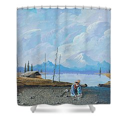 Alaskan Atm Shower Curtain