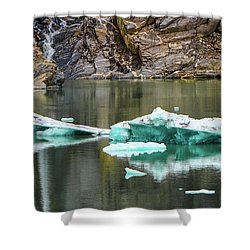 Alaskan Icebergs Shower Curtain