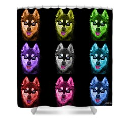 Alaskan Klee Kai - 6029 -bb - M Shower Curtain