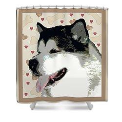 Alaskan Malamute Shower Curtain by One Rude Dawg Orcutt