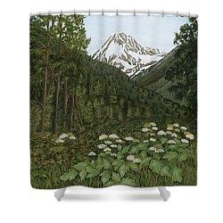 Alaskan Mountains Shower Curtain