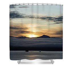 Alaskan Sun Rise Shower Curtain