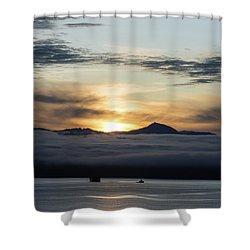 Alaskan Sun Rise Shower Curtain