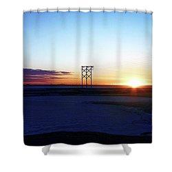 Alaskan Sunrise Shower Curtain