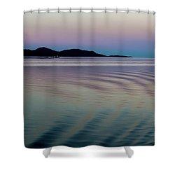Alaskan Sunset At Sea Shower Curtain