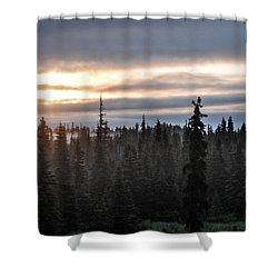 Alaskan Sunset Sunrise Shower Curtain