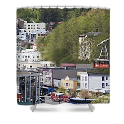 Alaskan Transportation Shower Curtain