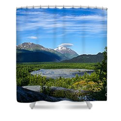 Alaska's Exit Glacier Valley Shower Curtain