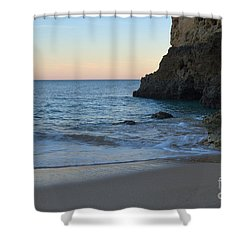 Albandeira Beach Welcoming Twilight 2 Shower Curtain