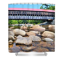 Albany Covered Bridge Shower Curtain