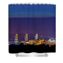 Albany Skyline Twilight Shower Curtain