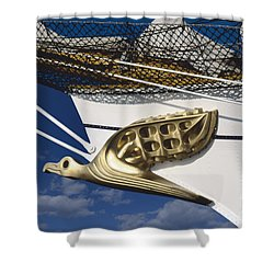 Shower Curtain featuring the photograph Albatross Figurehead by Heiko Koehrer-Wagner