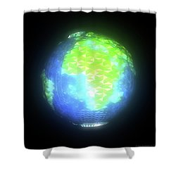 Albedo - Africa And Europe By Day Shower Curtain