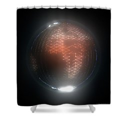 Albedo - Africa And Europe By Night Shower Curtain