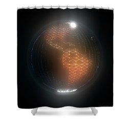 Albedo - Americas By Night Shower Curtain
