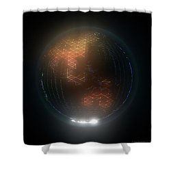 Albedo - Asia And Australasia By Night Shower Curtain