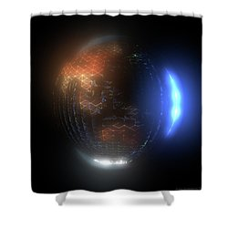 Albedo - Transition From Night To Day Shower Curtain