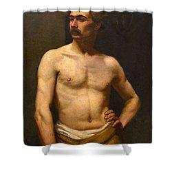 Albert Edelfelt Male Model Shower Curtain