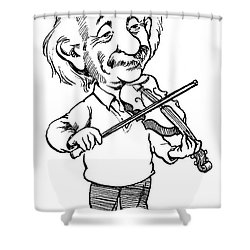 Albert Einstein (1879-1955) Shower Curtain