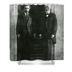 Albert Einstein And Hendrik Antoon Lorentz Shower Curtain