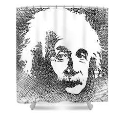 Albert Einstein Bw  Shower Curtain