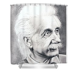 Albert Einstein  Shower Curtain by Murphy Elliott