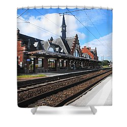 Shower Curtain featuring the photograph Albert Train Station, France by Therese Alcorn
