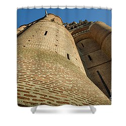 Albi Cathedral Low Angle Shower Curtain by RicardMN Photography