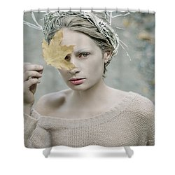 Albino In Forest. Prickle Tenderness Shower Curtain
