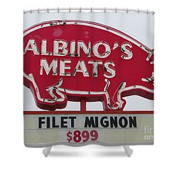 Albino's Meats Shower Curtain