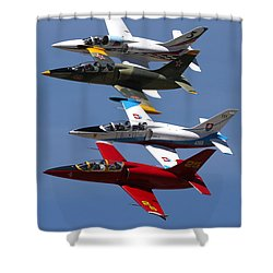 Albtatros Fly-by At The Hollister Air Show Shower Curtain