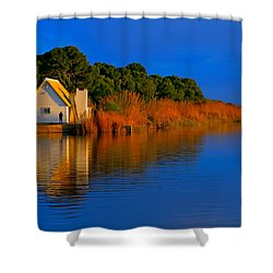 Albufera Blue. Valencia. Spain Shower Curtain