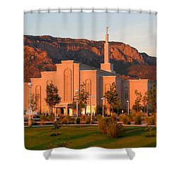 Albuquerque Lds Temple At Sunset 1 Shower Curtain