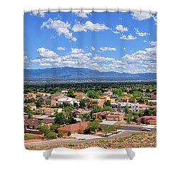 Shower Curtain featuring the photograph Albuquerque West Side by Gina Savage