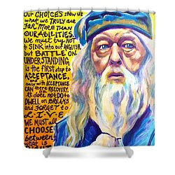 Albus Shower Curtain by Alicia VanNoy Call
