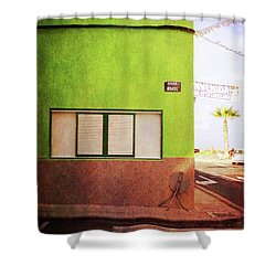 Shower Curtain featuring the photograph Alcala Green Corner by Anne Kotan
