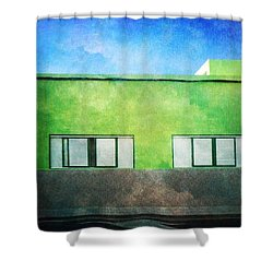 Shower Curtain featuring the photograph Alcala Green House No1 by Anne Kotan