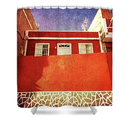 Shower Curtain featuring the photograph Alcala Red House No2 by Anne Kotan