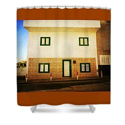 Shower Curtain featuring the photograph Alcala White House No1 by Anne Kotan