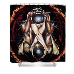 Alchemical Marriage Shower Curtain