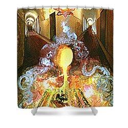 Alchemy Shower Curtain by Anne Cameron Cutri