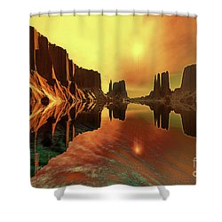 Alchemy Shower Curtain by Corey Ford