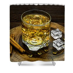 Alcoholic Beverage With Cinnamon And Ice Shower Curtain