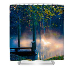 Aldred Pond Shower Curtain