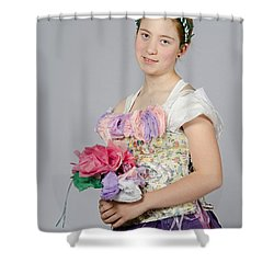 Alegra In Paper Floral Dress Shower Curtain