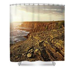 Shower Curtain featuring the photograph Alentejo Cliffs by Carlos Caetano