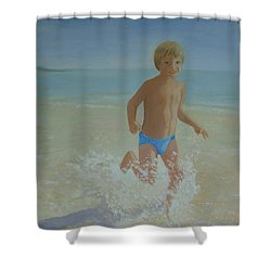 Alex On The Beach Shower Curtain