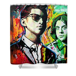 Shower Curtain featuring the painting Alex Turner by Richard Day