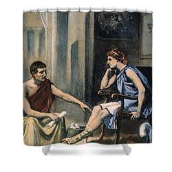 Alexander & Aristotle Shower Curtain by Granger